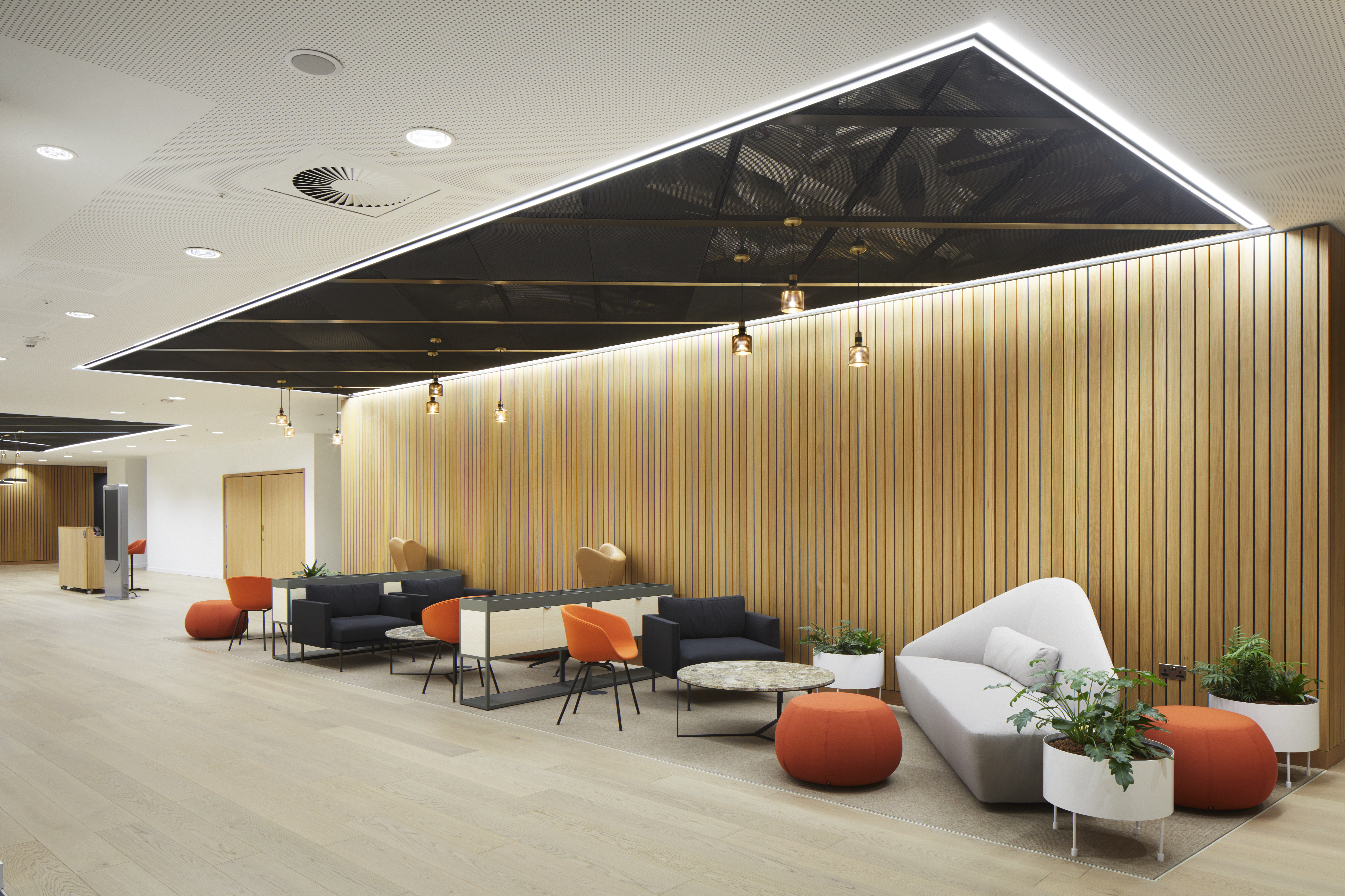 Armstrong Ceilings were an architect's trusted choice for a banking icon