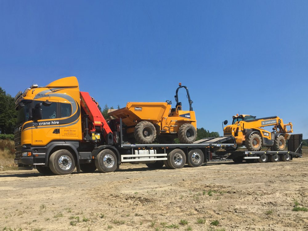 3b construction Supplied with New Bespoke Andover Truck and Trailer