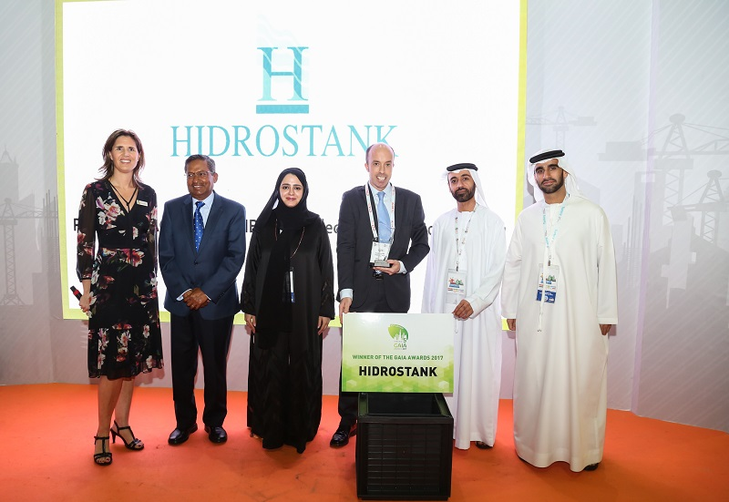 """Hidrostank receives the GAIA AWARD 2017 as the """"most sustainable product"""""""