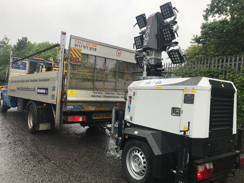 Brandon Hire Hired Lighting Towers to Swansea Festival