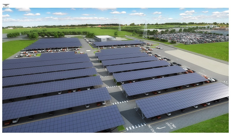 UK's Largest Solar Carport System at Bentley Motors