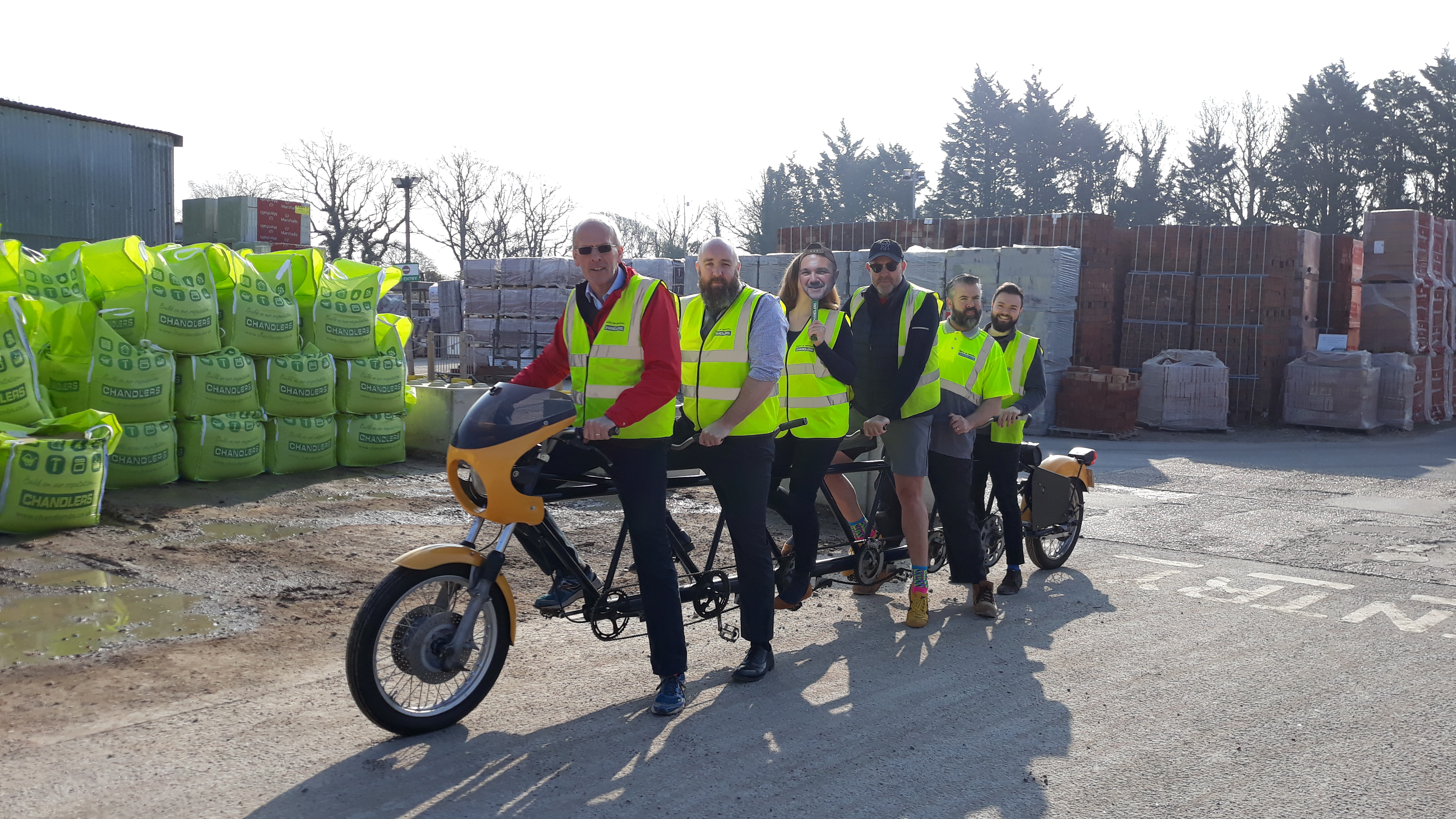 CHANDLERS BUILDING SUPPLIES PEDAL POWER FOR SEVEN PORT CHALLENGE