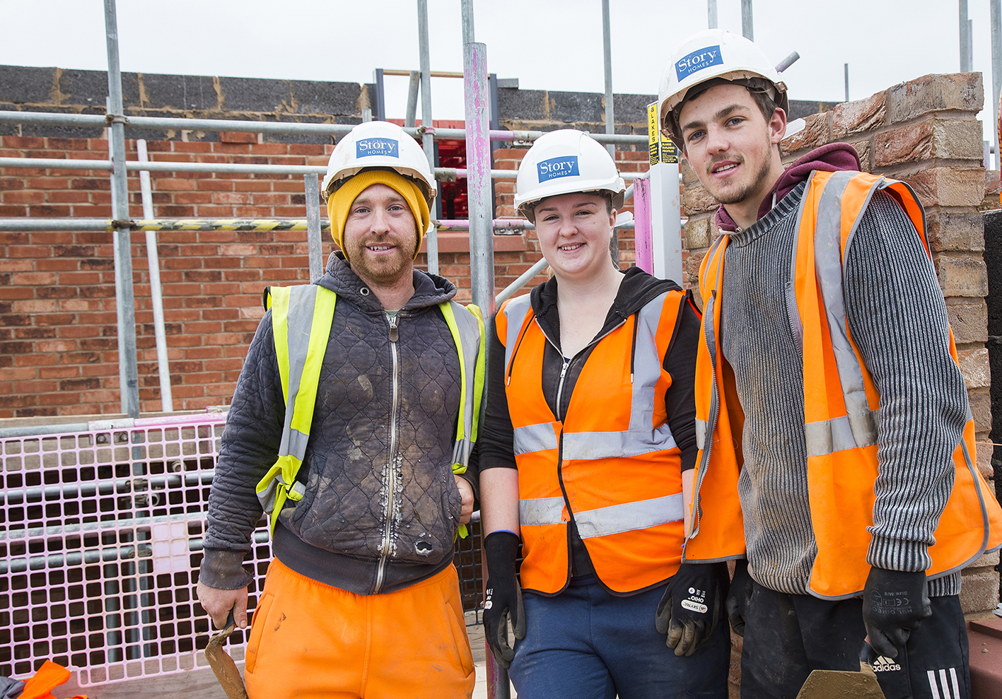 Story Homes welcomes its first female bricklayer as part of new apprentice intake