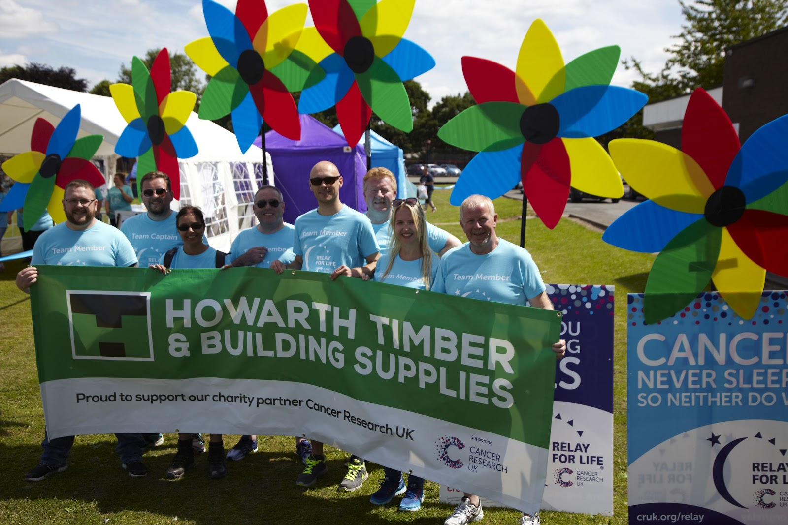 Howarth Timber and Building Supplies Took Part in Fundraising for Cancer Research UK