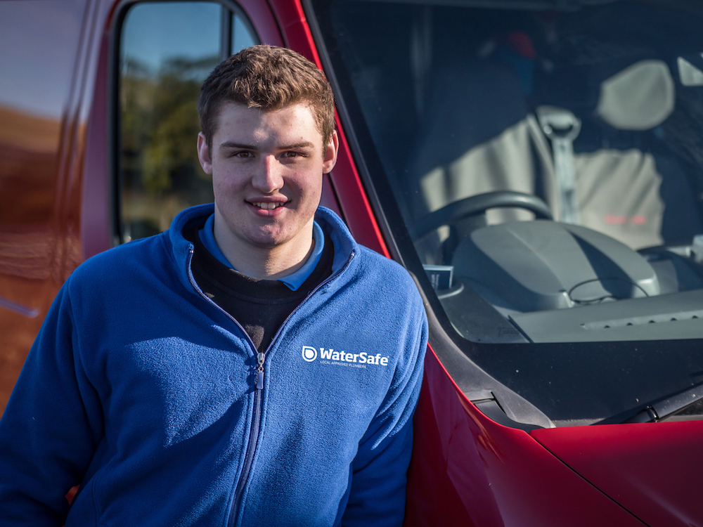 Award-winning apprentice encourages future plumbers to earn while  they learn for National Apprenticeship Week