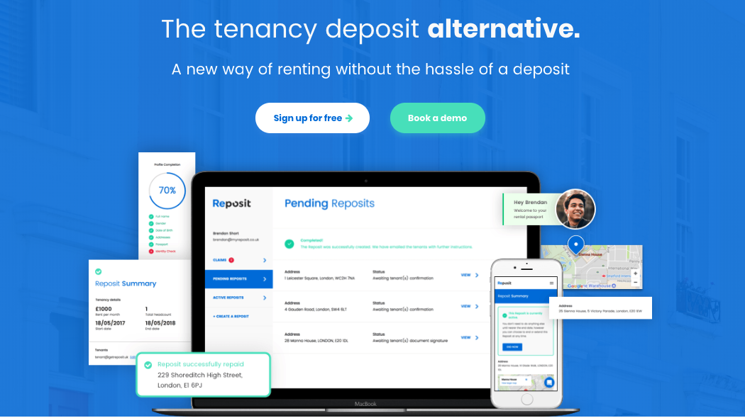 Reposit Offers Tenancy Deposit Alternatives