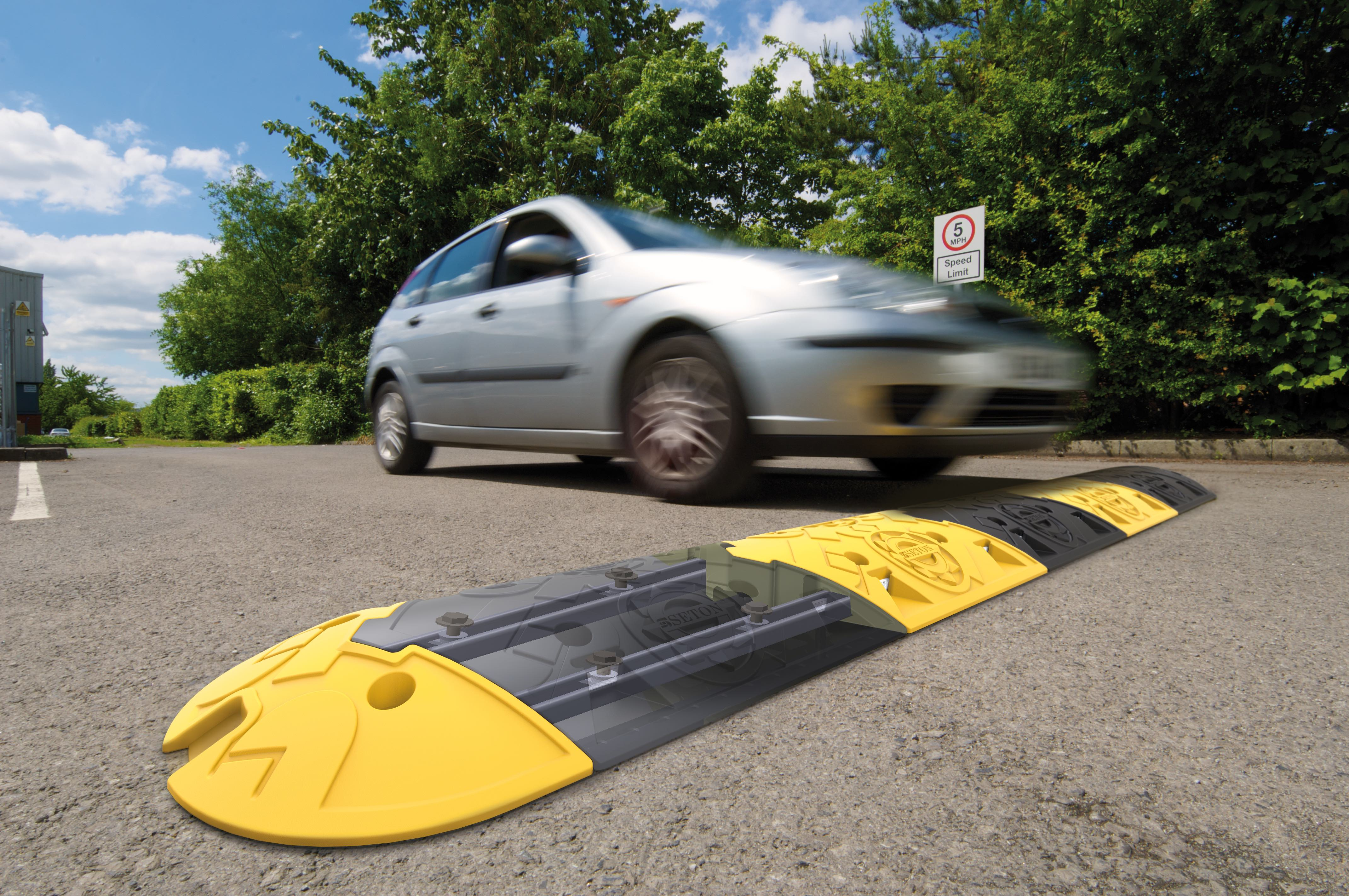 Racing ahead – groundbreaking new design revolutionises traffic management - Global leader in health and safety solutions unveils innovative speed bump