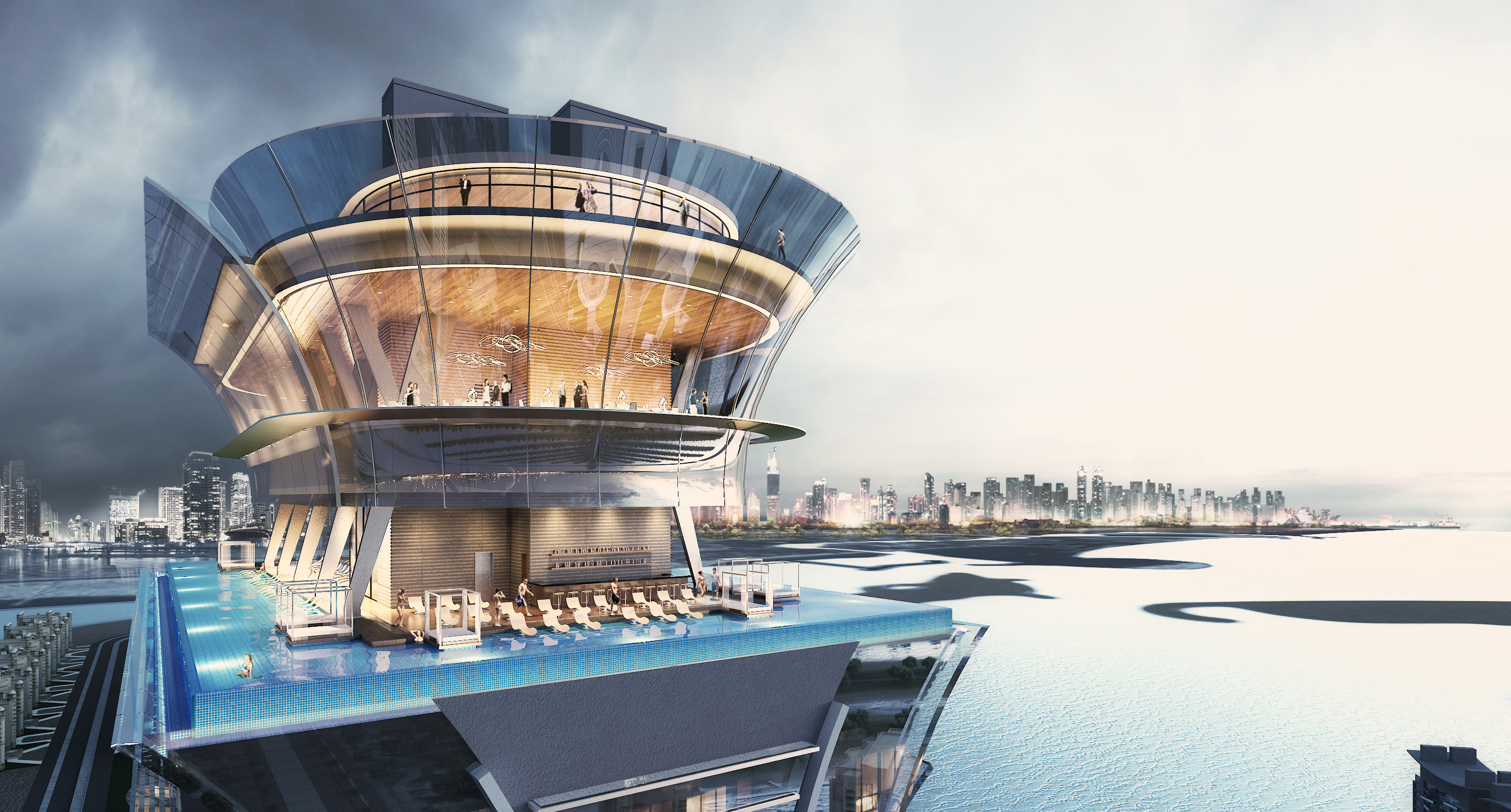 Hotel and residential floors complete at 52-storey luxury complex on Dubai's Palm Jumeirah