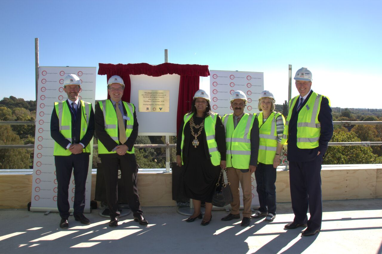 PROGRESS ON NEW HOSPITAL BUILD IS CELEBRATED AT 'TOPPING OUT' EVENT
