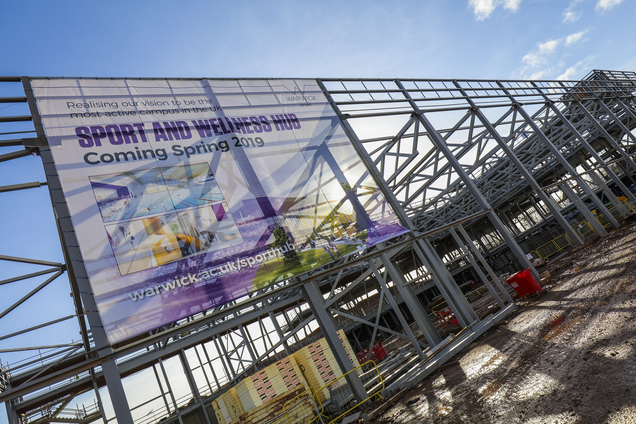 CELEBRATIONS AS STATE-OF-THE-ART SPORTS HUB NEARS COMPLETION