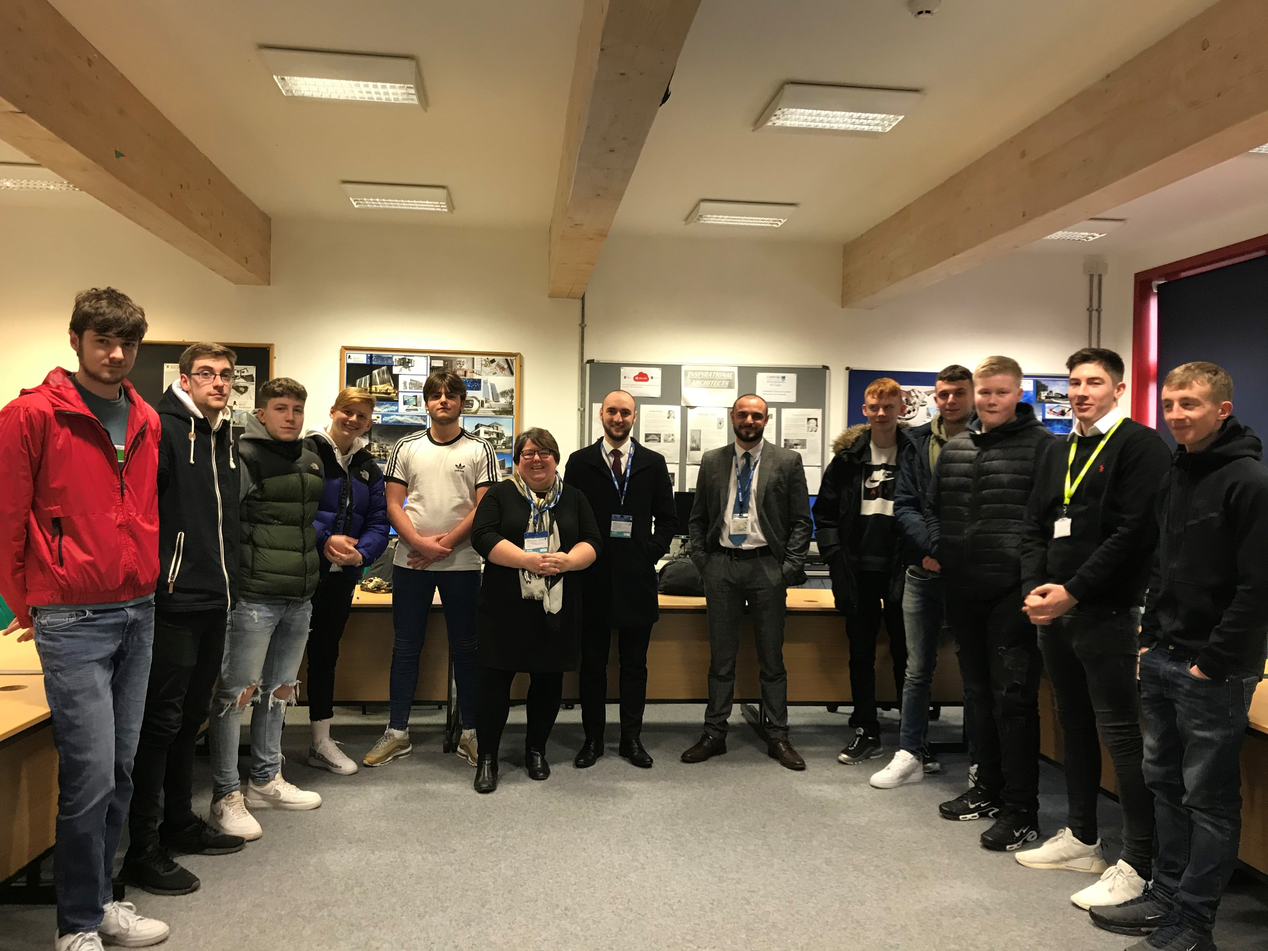 Construction students make an excellent impression on major local employer