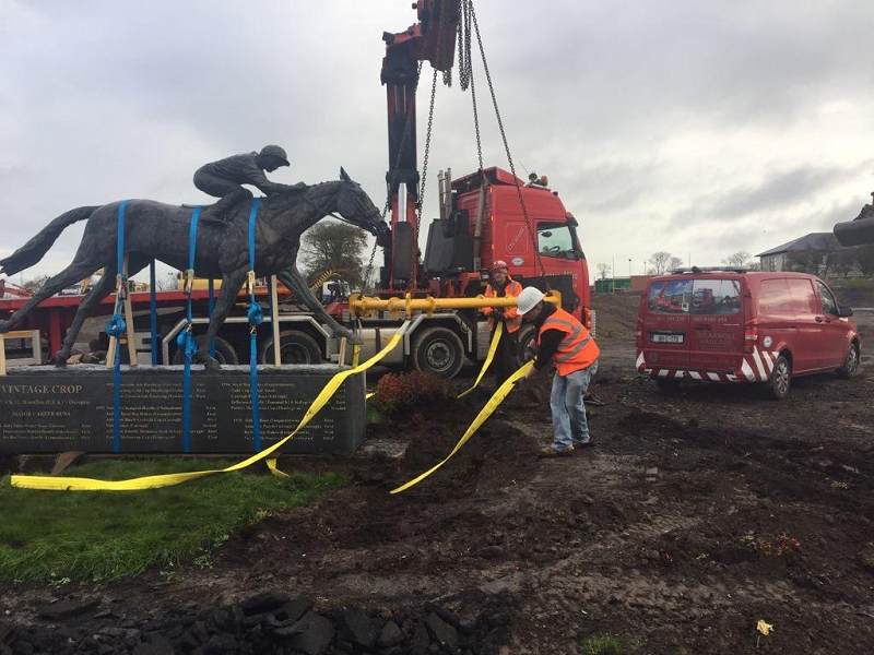 Statues Moved at Curragh Racecourse While Work Carried Out