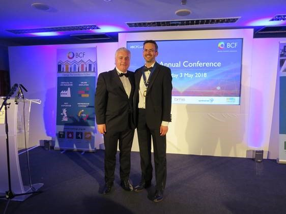 BCF presidency handed over to Pronto Industrial Paint's David Beckford at BCF Annual Conference