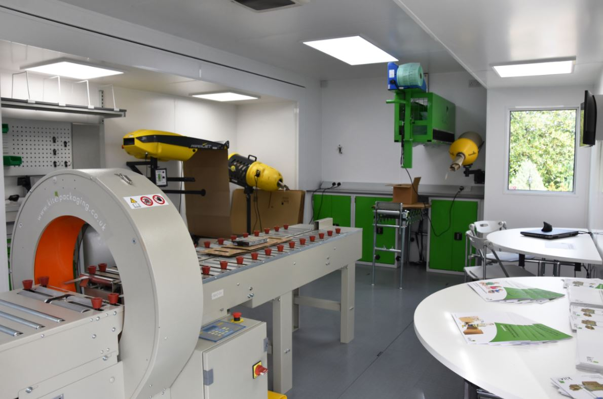 Kite Packaging's challenge to reduce plastic usage by 120 tonnes is supported by its plastic focused white paper and mobile packaging test facility