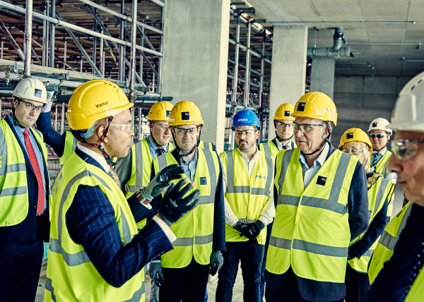 Sir Vince Cable marks the topping out of Richmond upon Thames College building