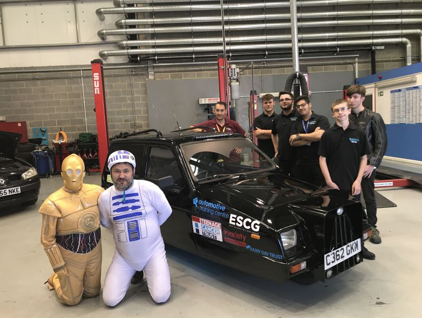 'MAY THE FORCE BE WITH YOU' CHANDLERS BUILDING SUPPLIES UNVEILS 'PIMPED UP' THREE-WHEELER FOR CHARITY
