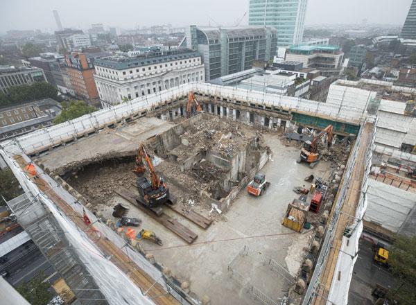 Demolition Commences at Euston Station Again