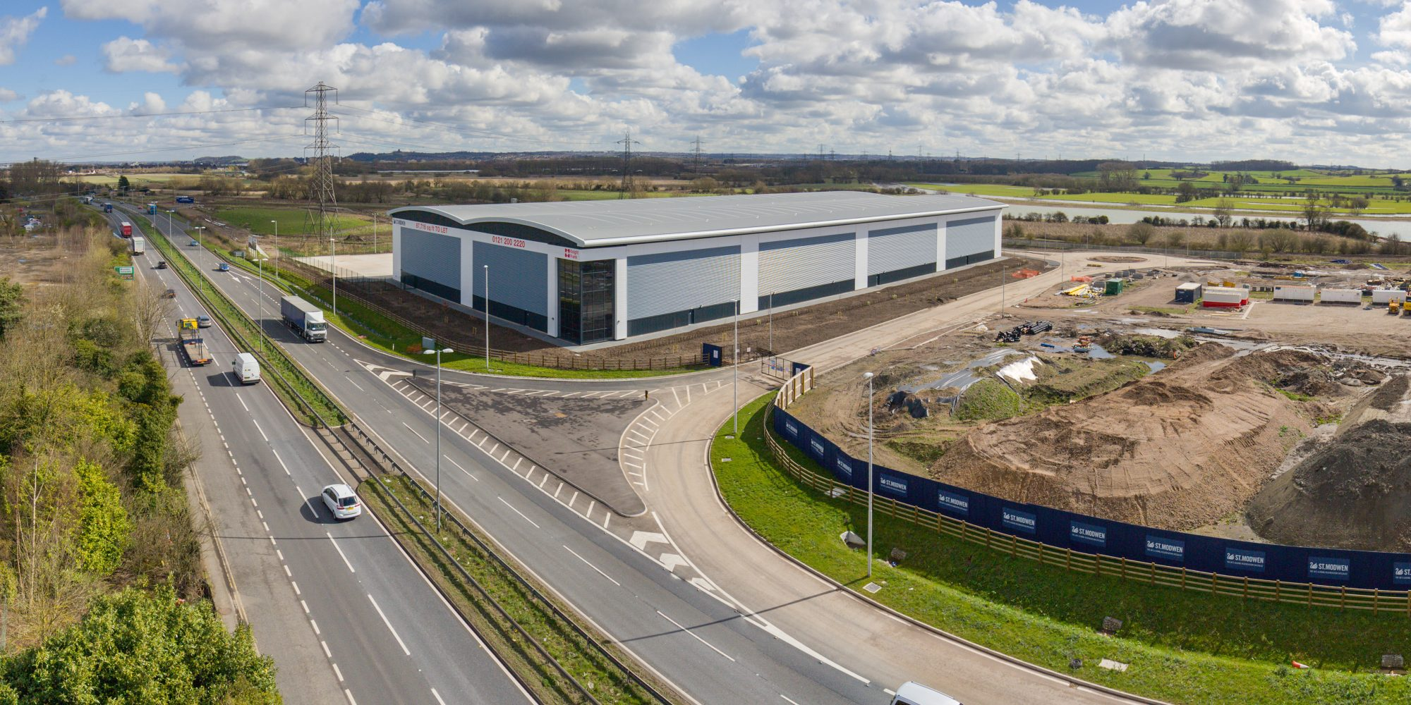 GMI announces completion of new 103,000 sq ft speculative distribution unit for St Modwen in Burton