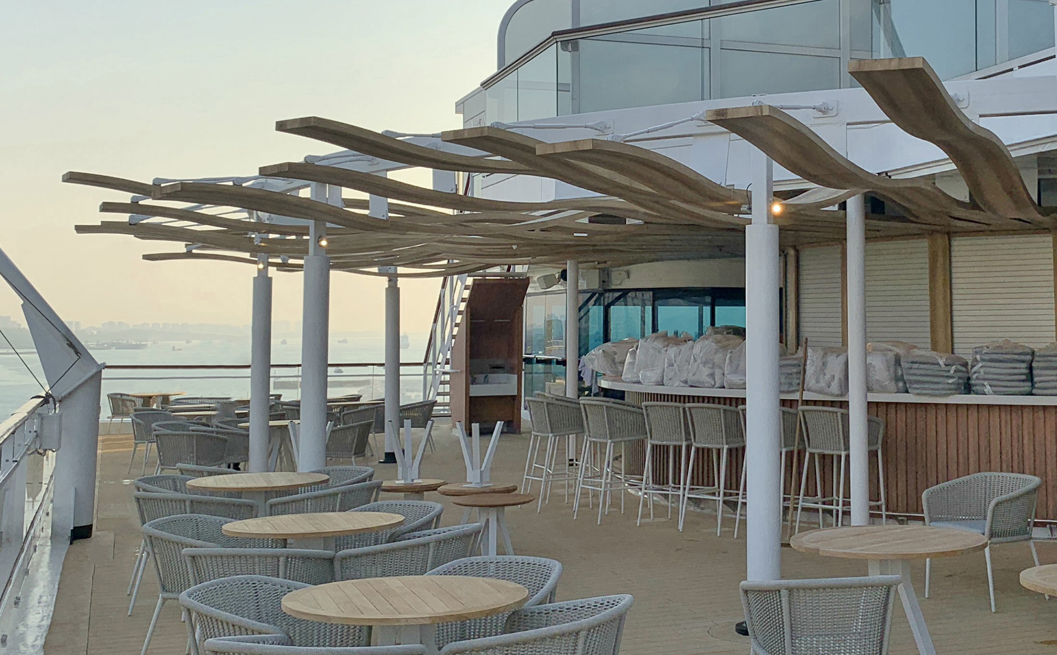 Cruise liner refurbishments benefit from Barnshaws' curved sections