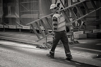 What are the most common work-related injuries in the construction industry?