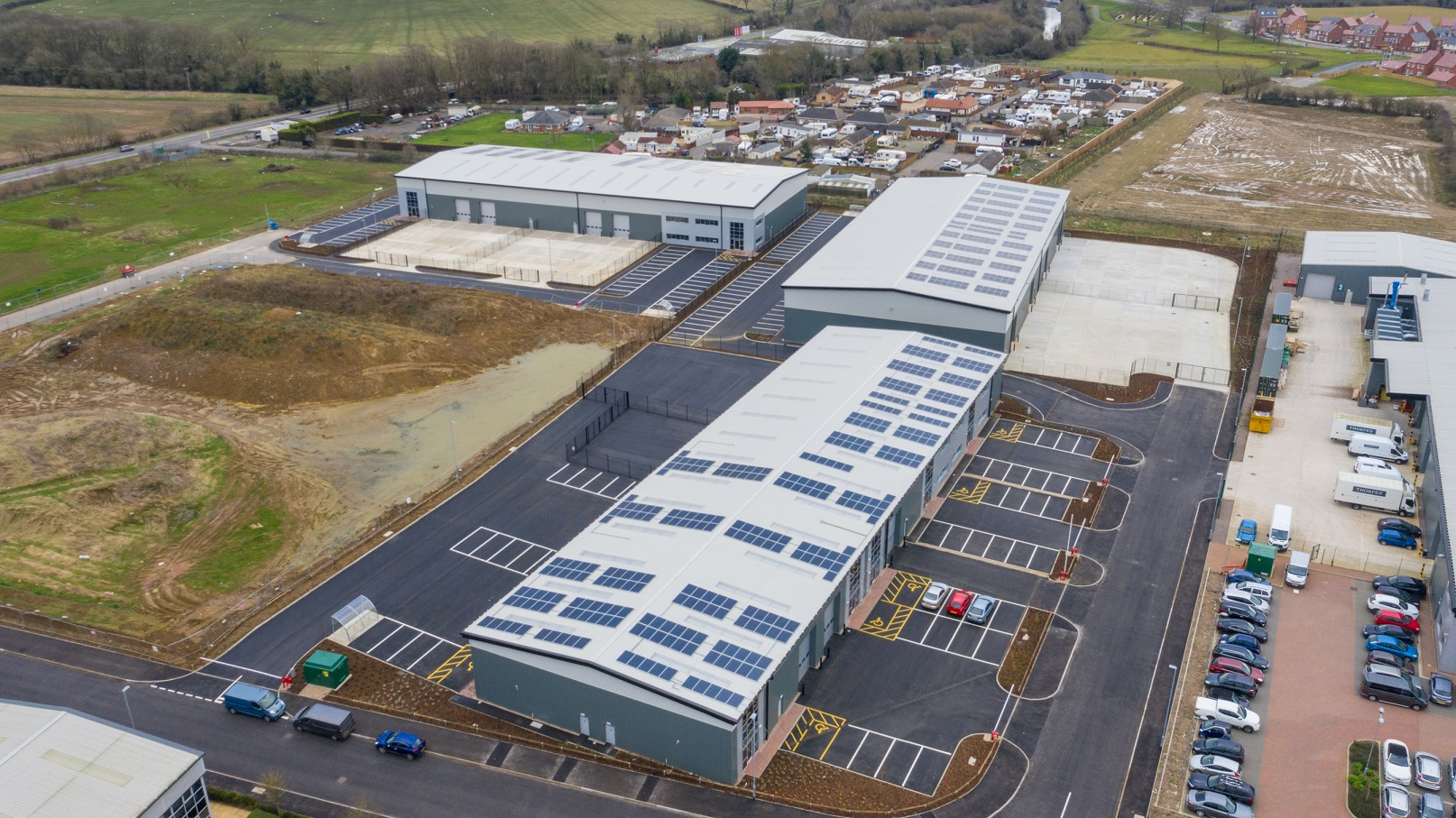 New Market Harborough business park built by J Tomlinson ready for take-off