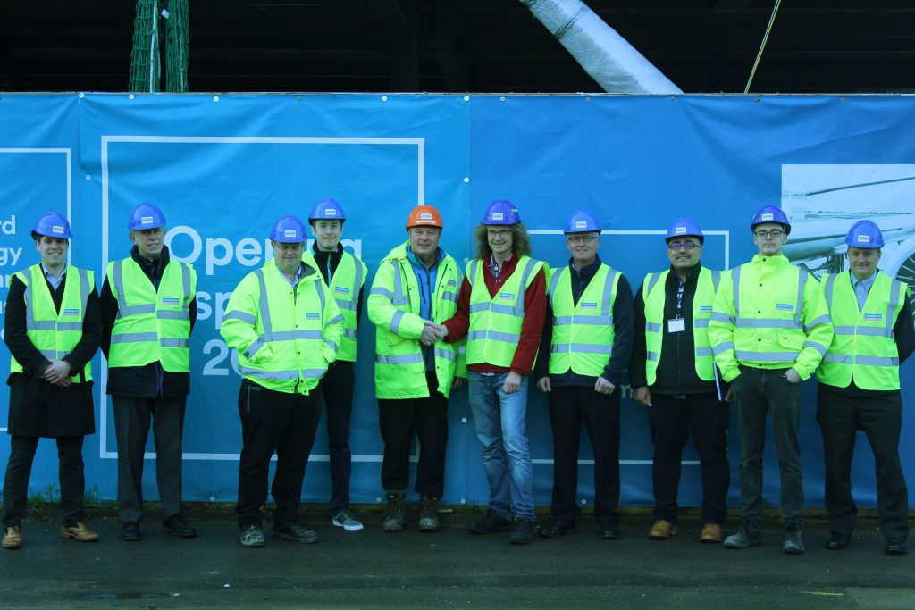 STEELS UP AS WORK PROGRESSES ON BIGGEST EVER WOODHEAD PROJECT