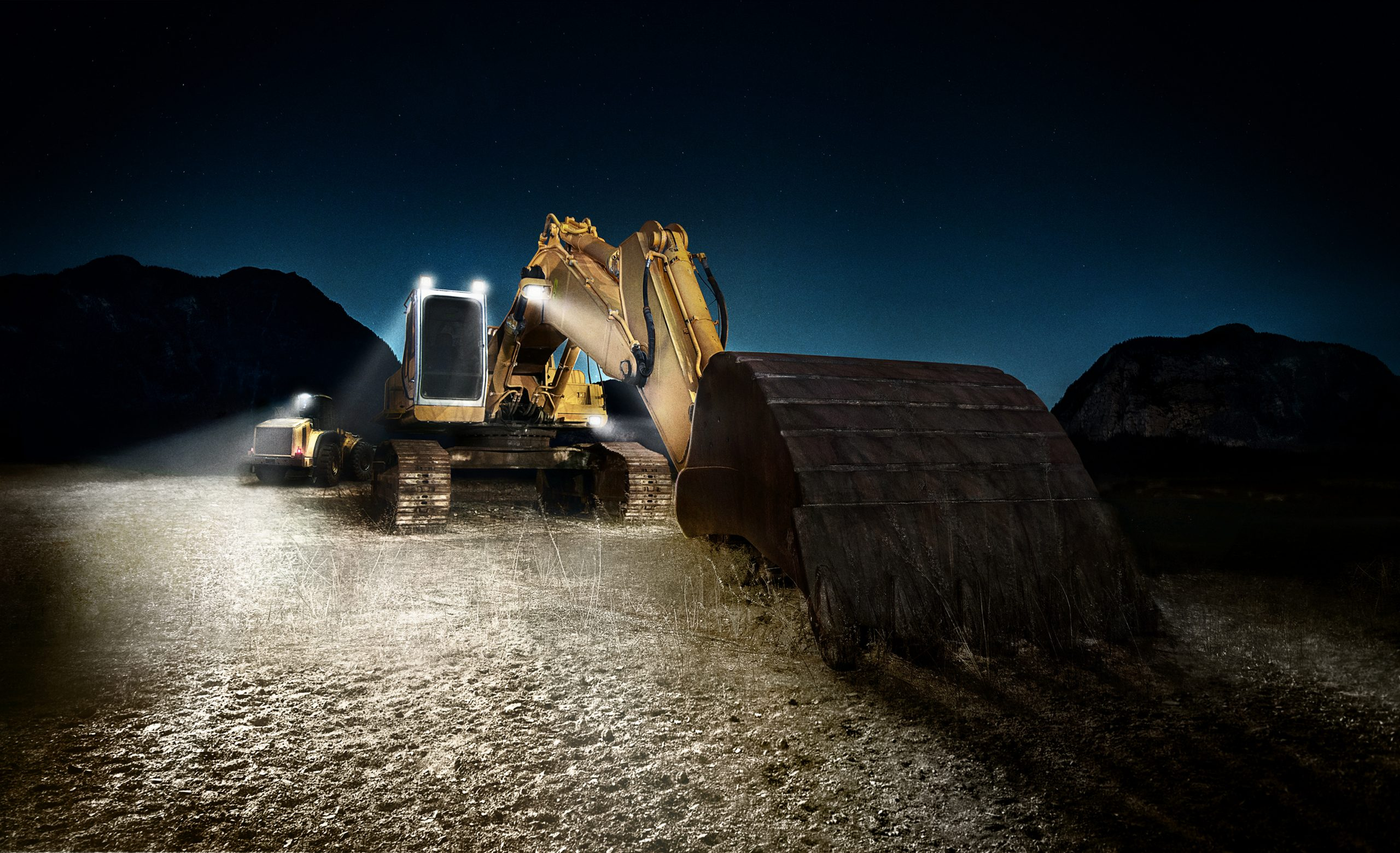 LEDriving® working lights enable construction to continue around the clock