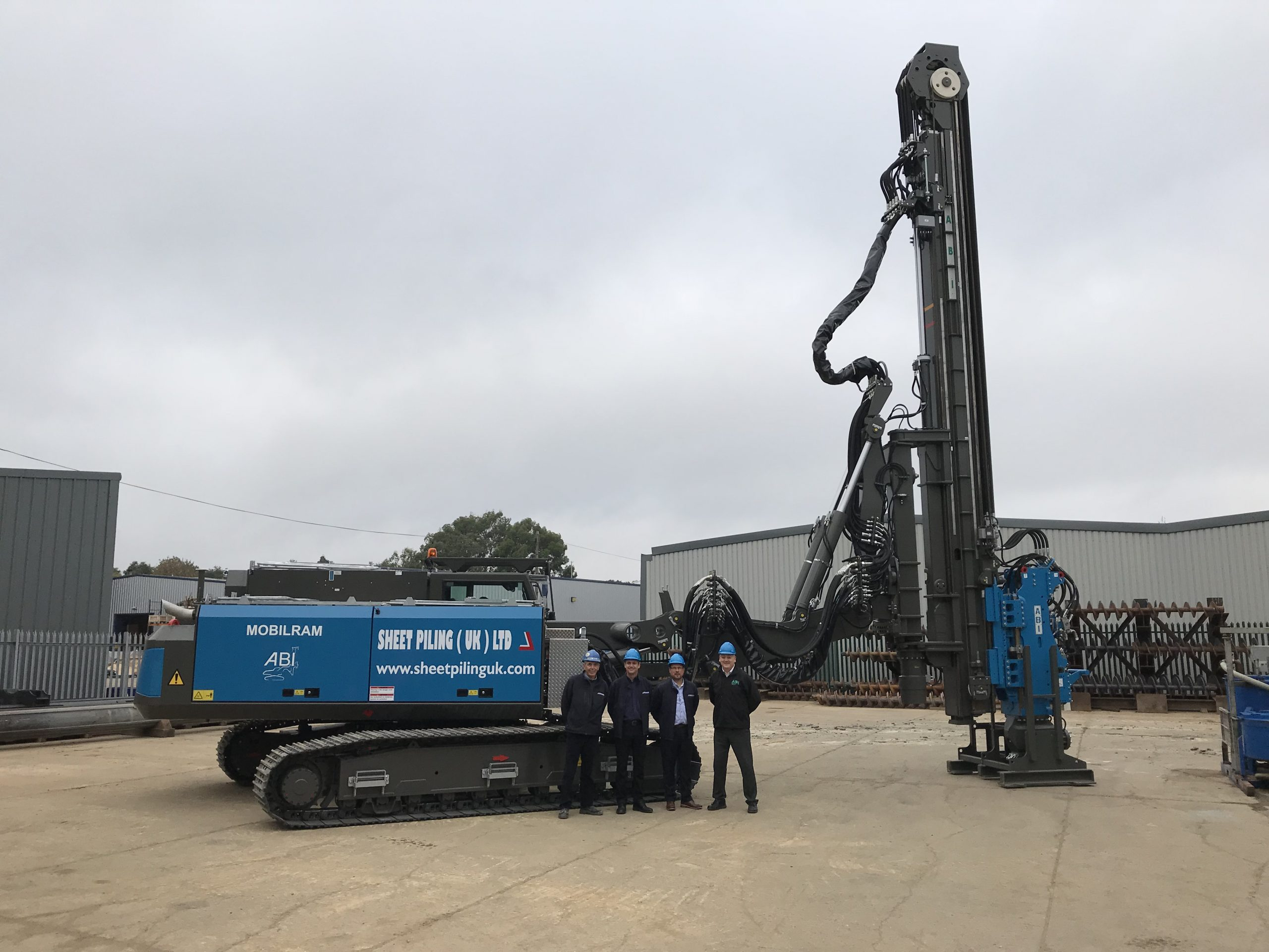 Sheet Piling Unveils Second Long Reach Telescopic Leader Rig