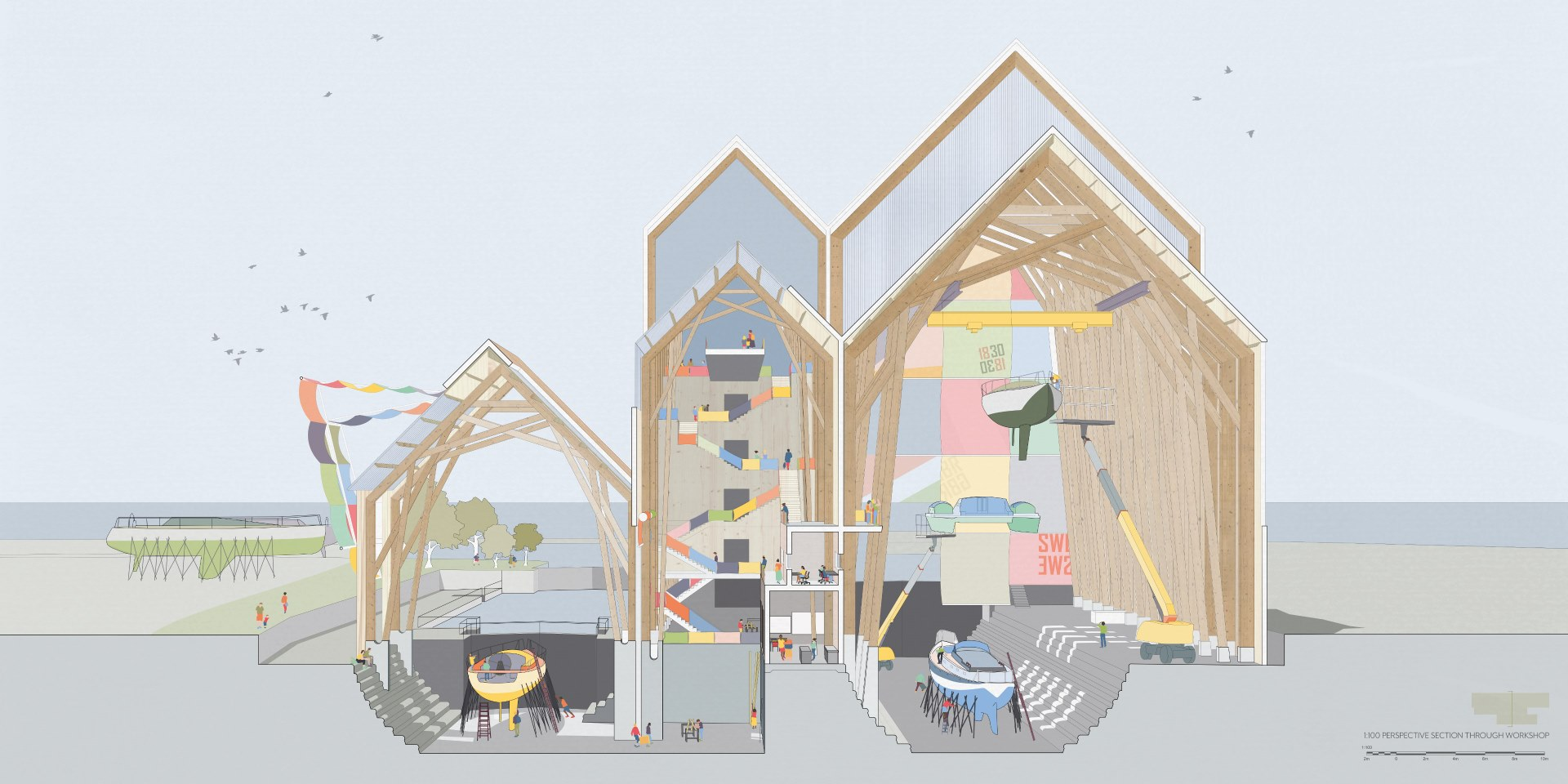 Student architects showcase their sustainable living designs in end-of-year exhibition