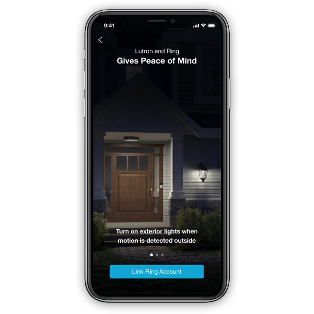 Lutron and Ring Bring Security to Your Home