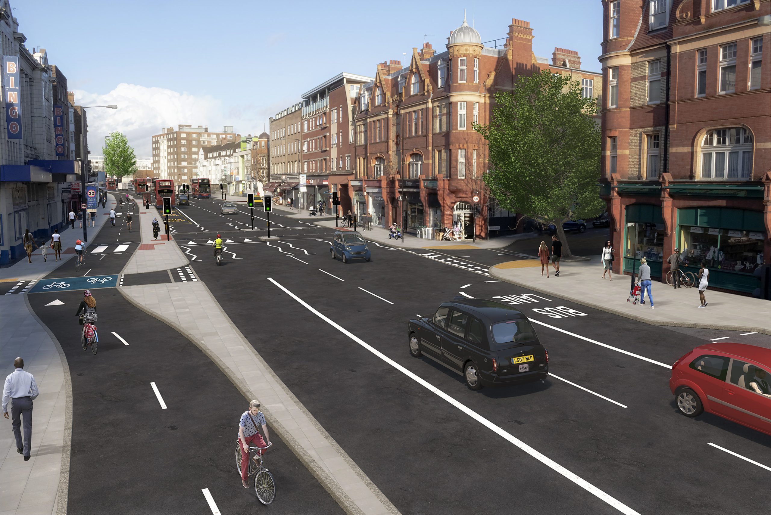 GHD appointed by TfL to support on development of designs for Cycle Future Route 15 in London