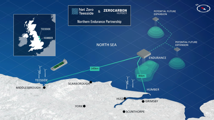 Key partnerships forms to accelerate offshore transport and storage infrastructure for carbon emissions in UK North Sea
