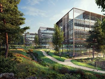 An artist's impression of Aykley Heads Business Park
