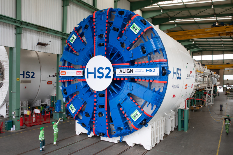 HS2's first giant tunnelling machines arrive in the UK