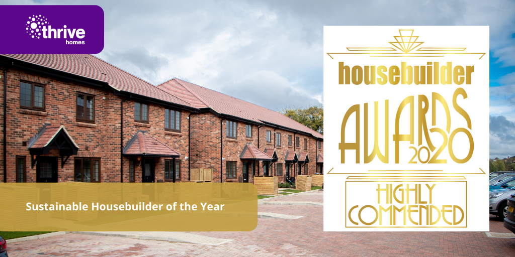 """Thrive Homes """"Highly Commended"""" for Sustainability by Housebuilder Awards"""