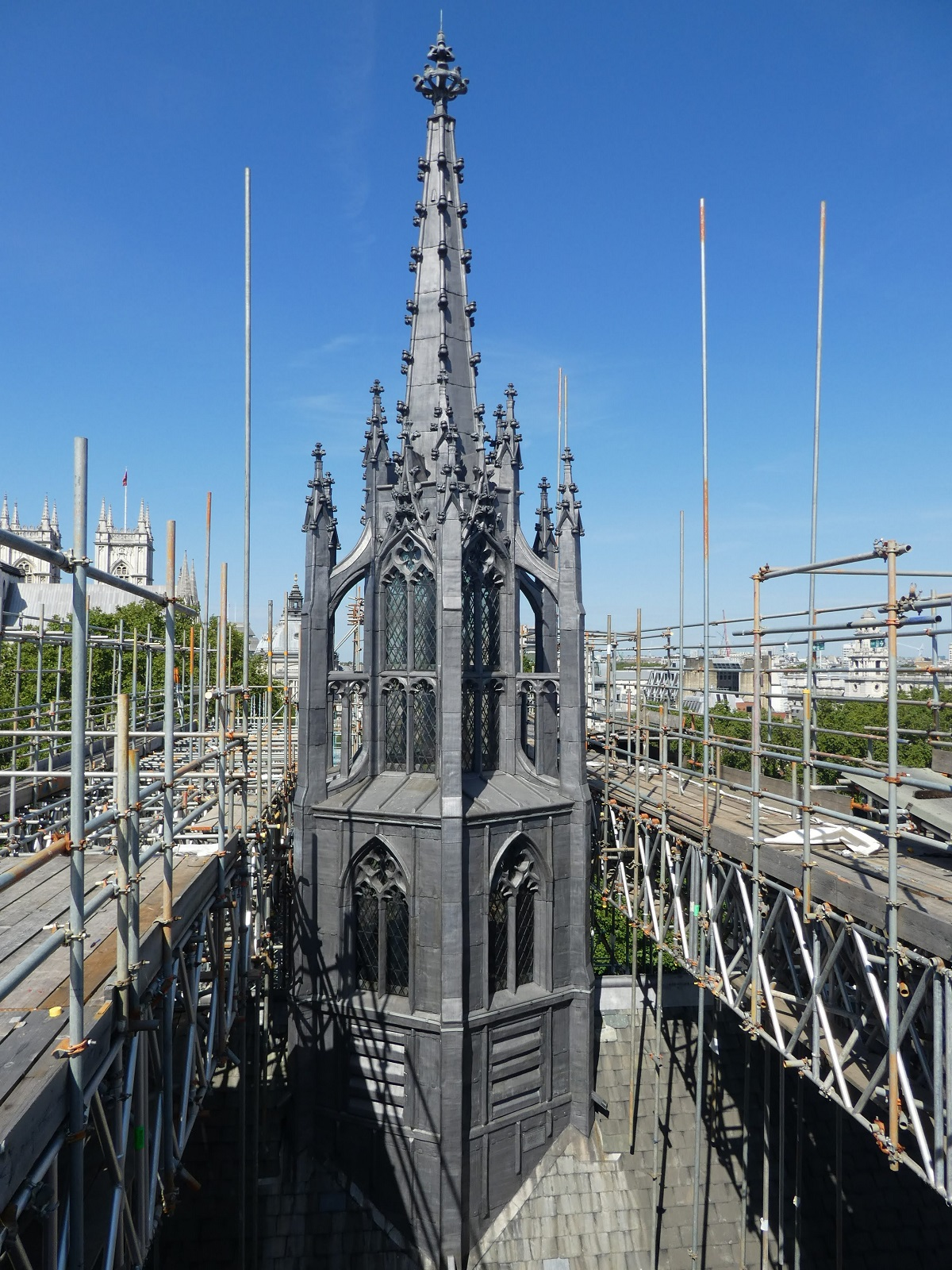 RESTORATION WORKS COMPLETE ON HISTORIC WESTMINSTER HALL