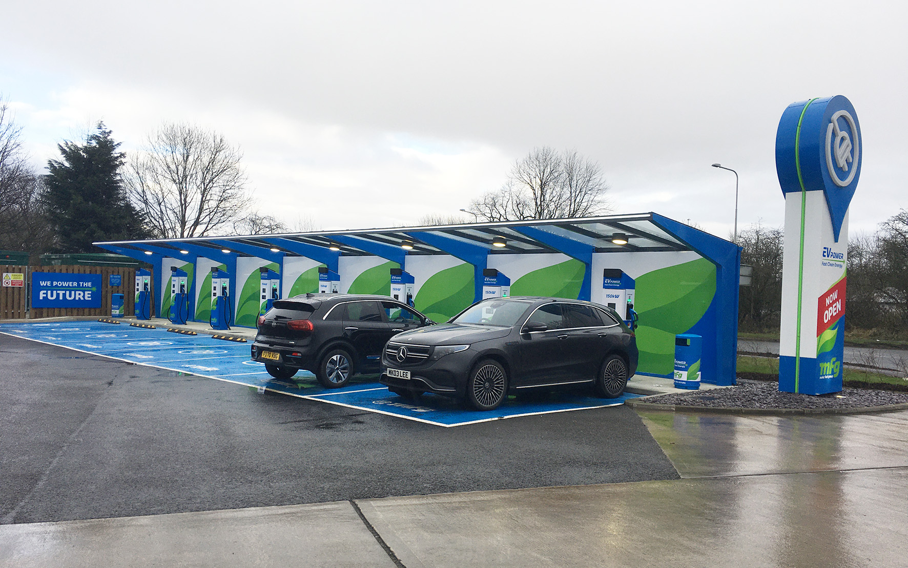 MFG's latest ultra-rapid EV-charging site completed by Welsh construction company