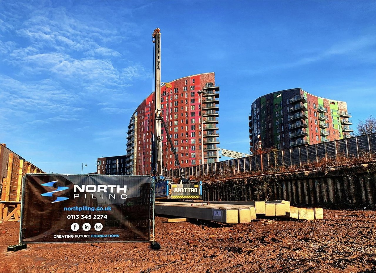 Piling project completes on Leeds' Climate Innovation District