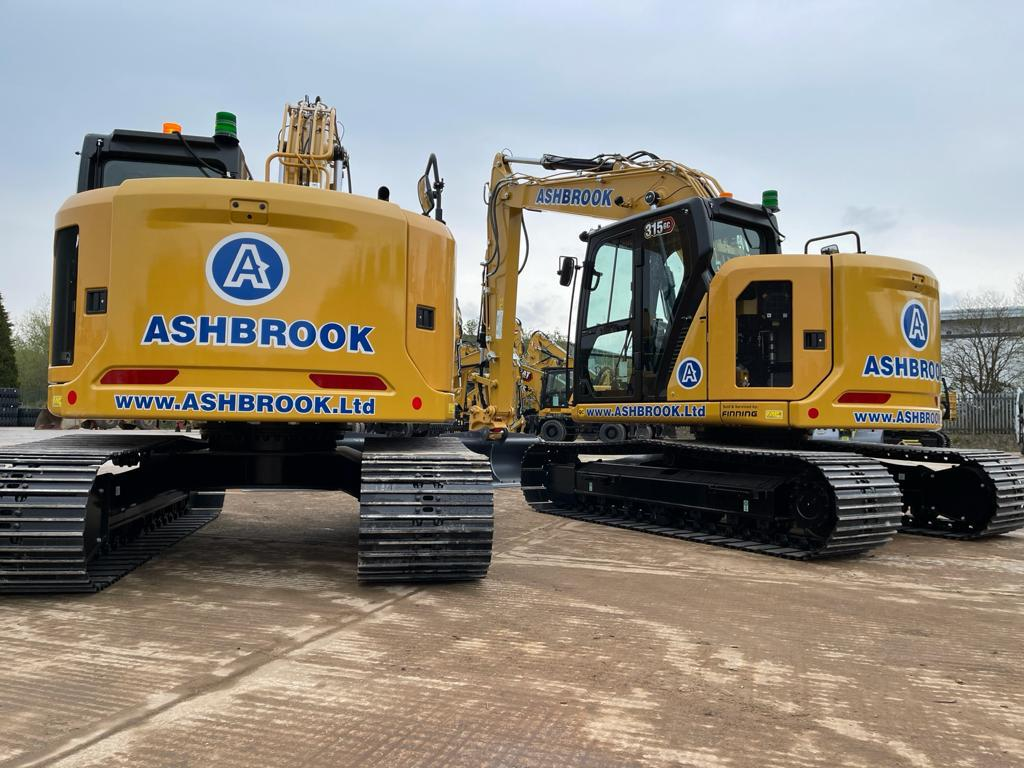 ASHBROOK is first in the UK to receive Cat® 315 GC