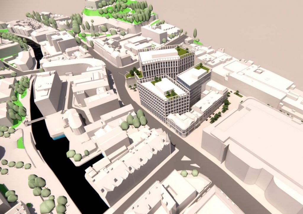 DEVELOPERS UNVEIL PLANS FOR NEW £200M BUSINESS QUARTER BY FORMER BROADMARSH CENTRE