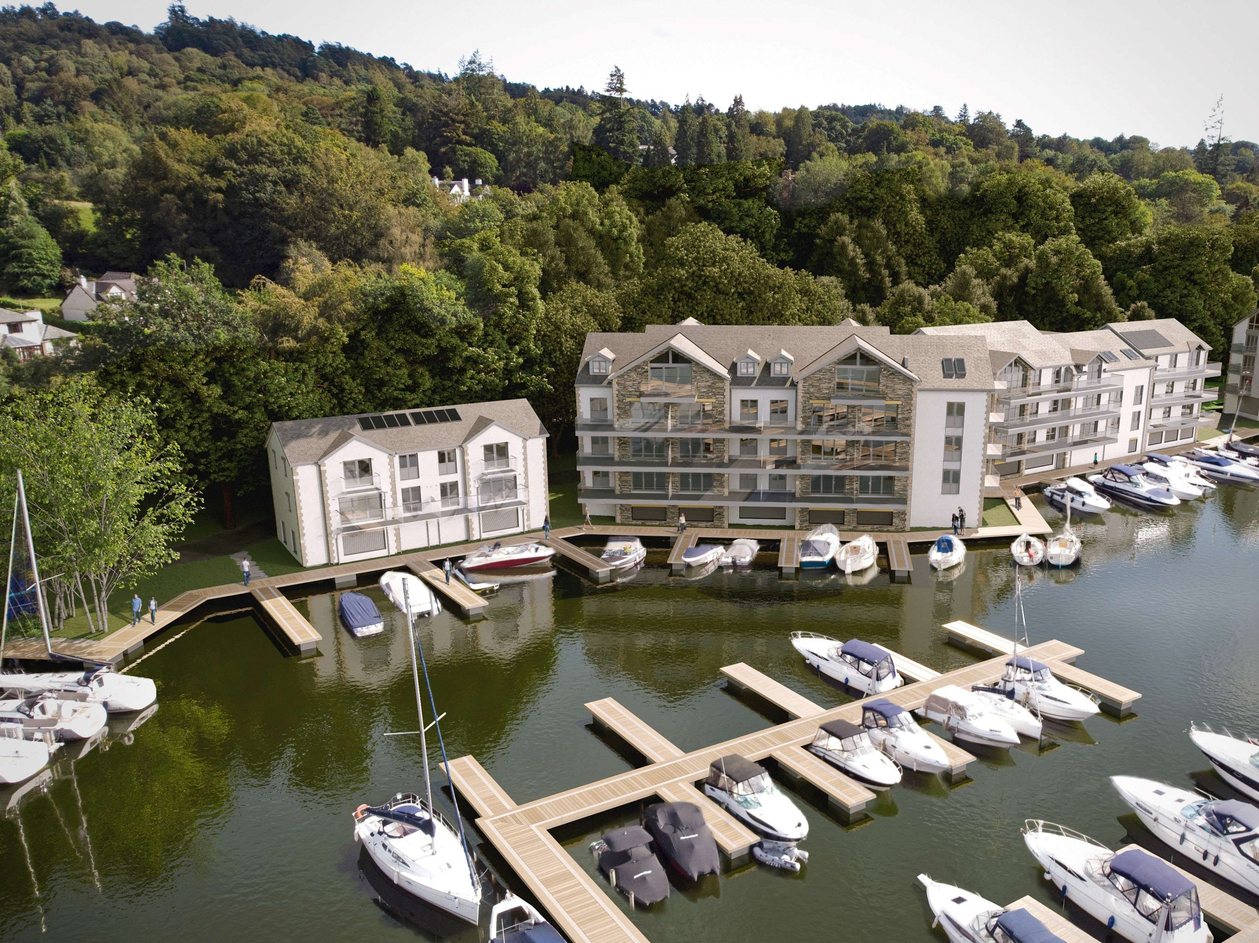 Windermere Marina development makes great progress as building structures complete