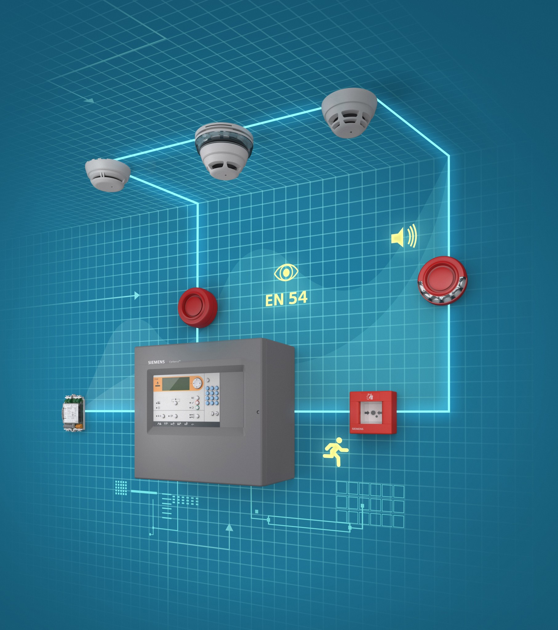 Siemens' fire protection system effortlessly protects small to medium-sized buildings