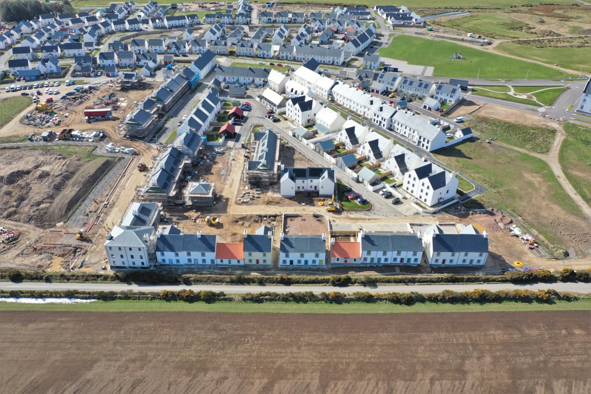 New aerial images show the progress of our Chapelton development in Aberdeenshire
