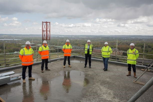 Hotel La Tour Sitting at Milton Keynes' Highest Point is Topped Out at 50 Metres by Winvic