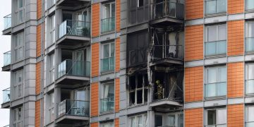 Fire Tears Through Tower-Block Near Canary Wharf With Similar Cladding To Grenfell Tower