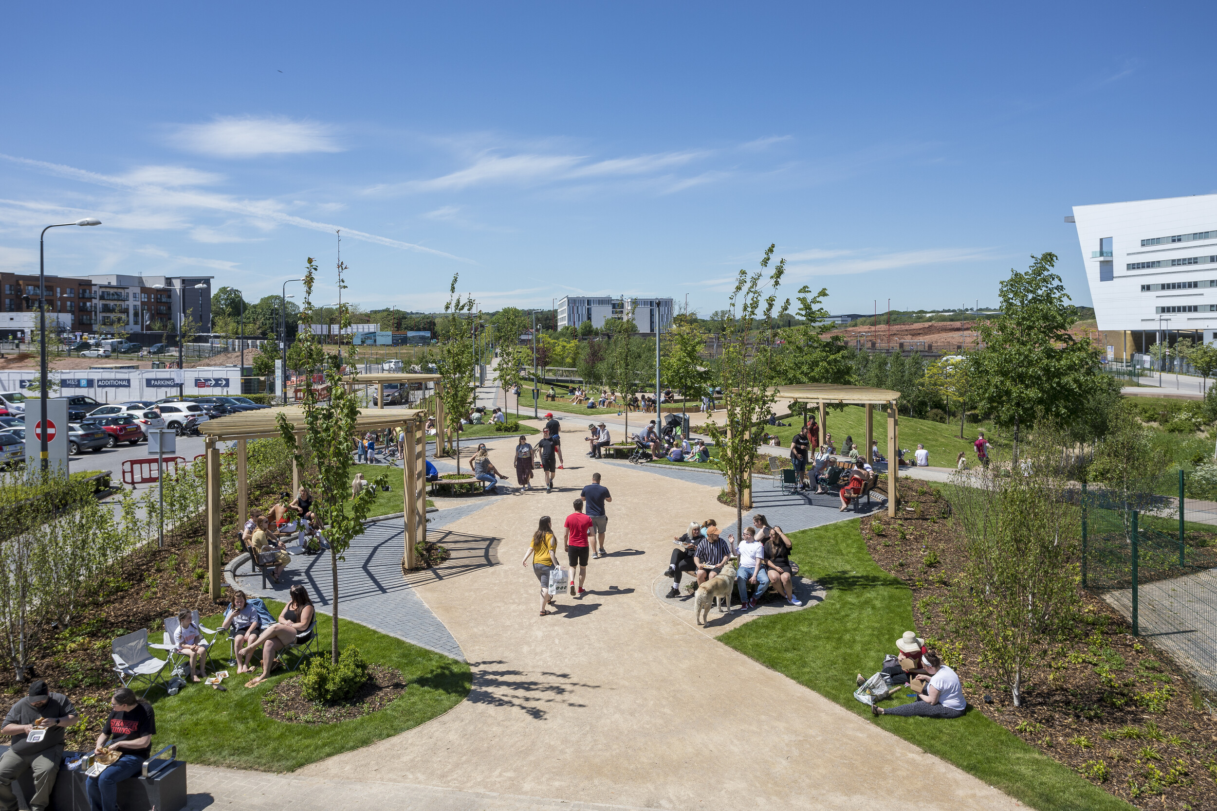 New green heart unveiled as part of ongoing regeneration of Longbridge