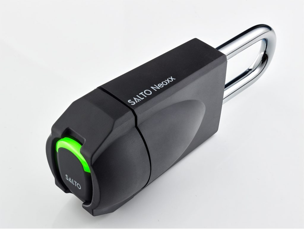 Built to withstand all access needs, unlock smarter with the tough new SALTO Neoxx electronic padlock
