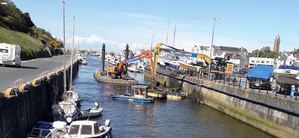 LAND & WATER COMPLETES DREDGING WORKS AT PEEL MARINA IN THE ISLE OF MAN