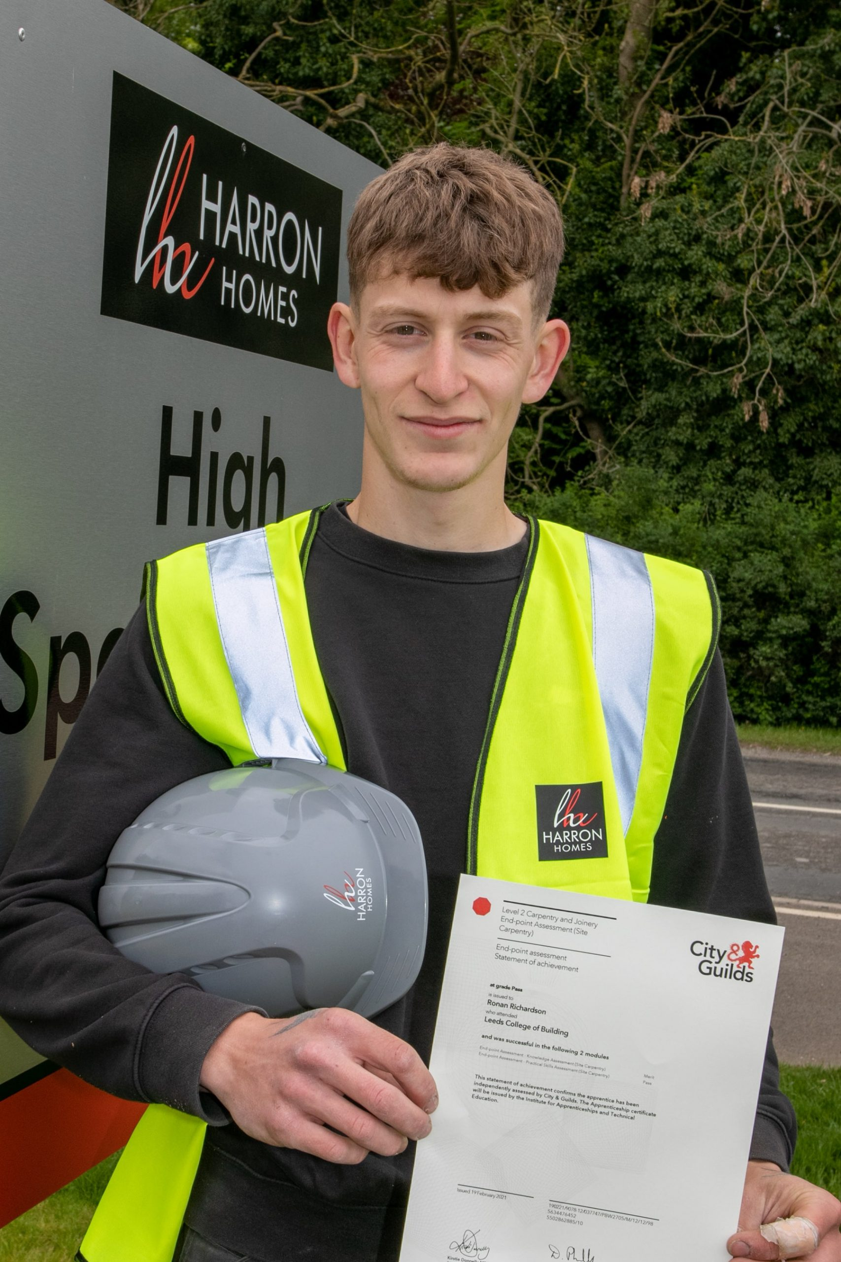 Harron Homes Yorkshire supports apprentice ambitions