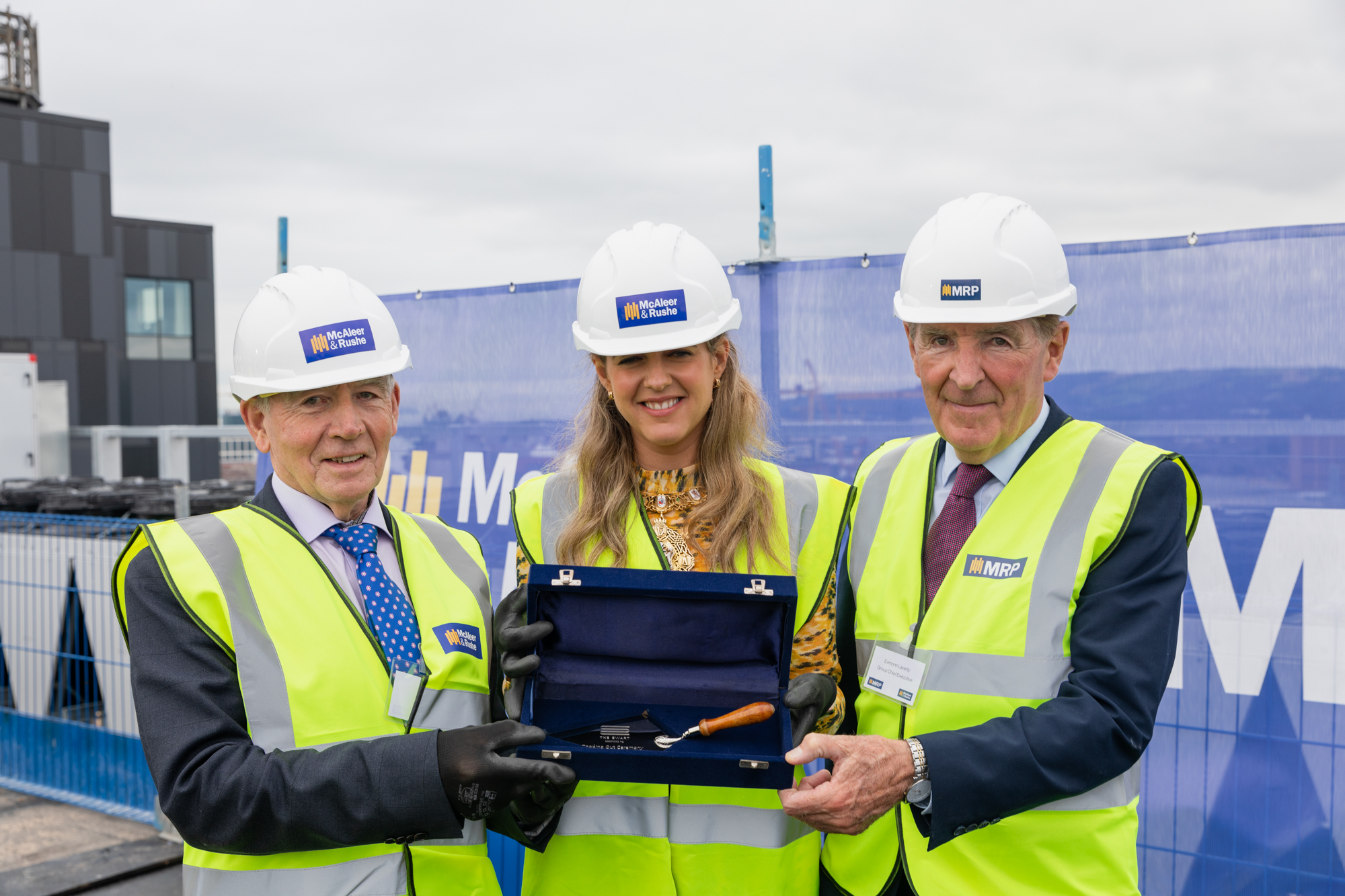 Topping out ceremony marks milestone at 'The Ewart'